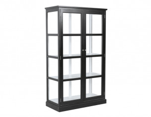 Glasskab m/2 låger - Sort