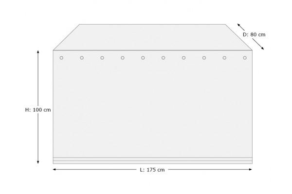 Overtræk (175x80) til hyndebox